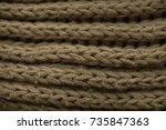 knitted fabric texture and... | Shutterstock . vector #735847363
