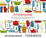 kitchenware  kitchen utensil... | Shutterstock .eps vector #735848920