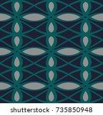 modern geometric pattern design ... | Shutterstock .eps vector #735850948