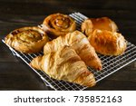 french pastries | Shutterstock . vector #735852163