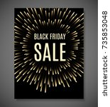 black friday sale background.... | Shutterstock .eps vector #735853048