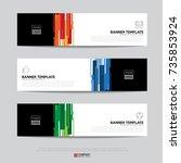 design of flyers  banners ...   Shutterstock .eps vector #735853924
