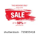 sale banner layout design | Shutterstock .eps vector #735855418