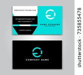business vector card creative... | Shutterstock .eps vector #735855478