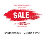 sale banner layout design | Shutterstock .eps vector #735855490