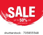 sale banner layout design | Shutterstock .eps vector #735855568