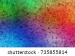 light multicolor  rainbow...   Shutterstock .eps vector #735855814