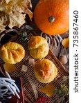 Pumpkin Roll With Tea In Autum...