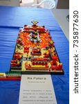 Small photo of VERONA, ITALY - OCTOBER 14 AND 15, 2017: Detail of Lego building bricks at trade fair dedicated to games, toys and children on OCTOBER 15, 2017 in