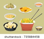 chinese tradition food dish... | Shutterstock .eps vector #735884458