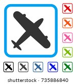 aeroplane icon. flat grey...