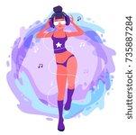 vector fashion illustration of...   Shutterstock .eps vector #735887284