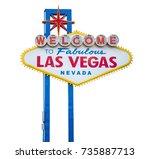 the fabulous welcome las vegas...   Shutterstock . vector #735887713
