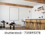 modern bar interior with white... | Shutterstock . vector #735895378