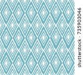 seamless pattern of rhombuses....   Shutterstock .eps vector #735903046
