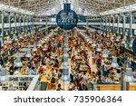 lisbon  portugal   august 12 ... | Shutterstock . vector #735906364
