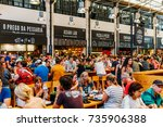 lisbon  portugal   august 12 ... | Shutterstock . vector #735906388