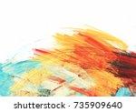bright artistic splashes on... | Shutterstock . vector #735909640