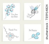 Four Square Cards With Wishes....