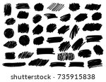 vector set of grunge artistic... | Shutterstock .eps vector #735915838