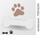 vector dog bone icon | Shutterstock .eps vector #735916210