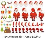 mascot creation kit of... | Shutterstock .eps vector #735916240