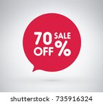 70  offer label sticker  sale... | Shutterstock .eps vector #735916324