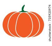 halloween isolated pumpkin in... | Shutterstock .eps vector #735920974