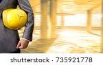 no face unrecognizable person.... | Shutterstock . vector #735921778