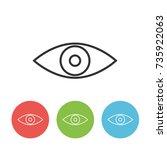 eye vector outline single icon...