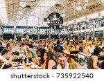 lisbon  portugal   august 12 ... | Shutterstock . vector #735922540