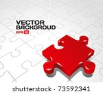 vector puzzle with 3d pie... | Shutterstock .eps vector #73592341