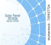 solar panel vector illustration.... | Shutterstock .eps vector #735927724