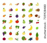 fruits illustrations set.... | Shutterstock .eps vector #735928480