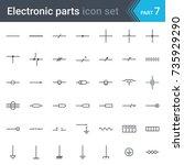 complete vector set of electric ... | Shutterstock .eps vector #735929290