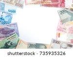 indonesian rupiah for... | Shutterstock . vector #735935326