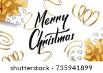 christmas. greeting card with... | Shutterstock .eps vector #735941899