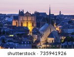 panorama of poitiers with... | Shutterstock . vector #735941926