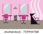 interior of a hairdressing... | Shutterstock .eps vector #735944788
