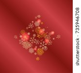 diamonds shaped christmas...   Shutterstock .eps vector #735946708