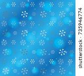 seamless christmas background...   Shutterstock .eps vector #735946774