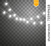 christmas lights isolated on...   Shutterstock .eps vector #735949618