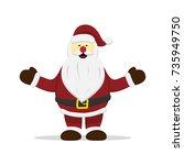 santa claus christmas vector...   Shutterstock .eps vector #735949750