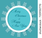 postcard new year and christmas ...   Shutterstock .eps vector #735950770