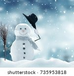 new year greeting card with... | Shutterstock . vector #735953818