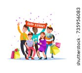 vector illustration of group... | Shutterstock .eps vector #735956083
