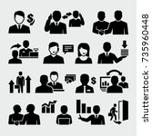 sales vector icons  | Shutterstock .eps vector #735960448