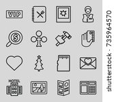 card icons set. set of 16 card... | Shutterstock .eps vector #735964570