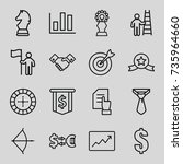 success icons set. set of 16... | Shutterstock .eps vector #735964660