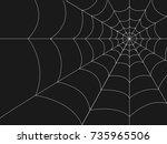 halloween web background | Shutterstock .eps vector #735965506